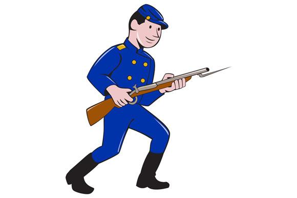 Union Army Soldier Bayonet Rifle