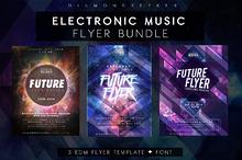 ELECTRONIC MUSIC FLYERS BUNDLE