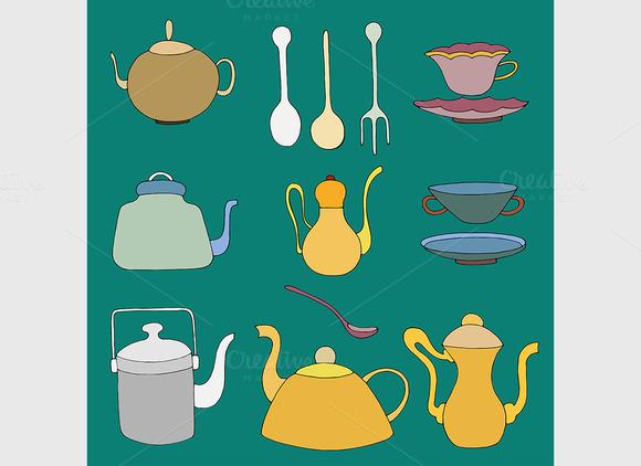 Set Of Tea Accessories