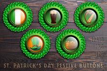 St. Patrick's Day festive buttons