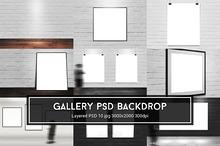 Gallery PSD Backdrop