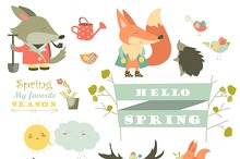 Characters and spring elements