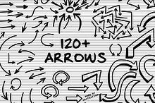 120+ Hand Drawn Vector Arrows