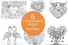 6 unique coloring book design