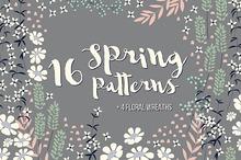 16 Spring Patterns + 4 Wreaths
