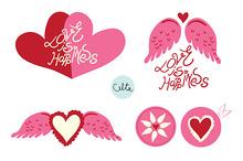 Love is happiness vectors