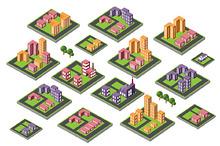 Isometric city map