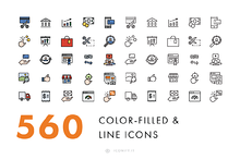 560 Line & Filled-Line Icons
