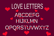 love alphabet, love letter purple