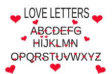 love alphabet, love letter vector