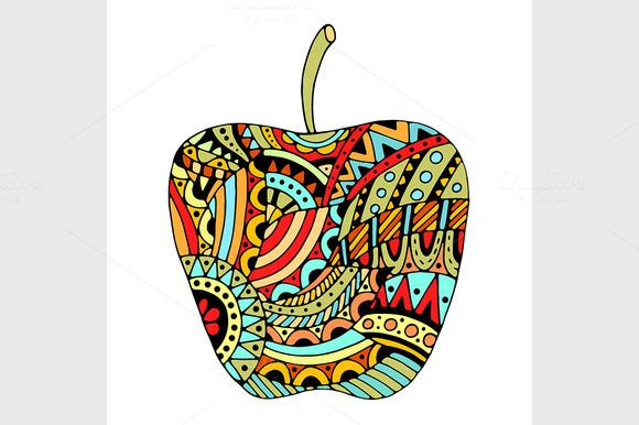 Decorative Colored Apple
