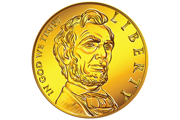 American Money One Cent Gold Coin