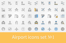 Airport icons set - 1