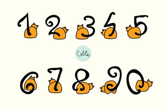Cat Numbers Vectors