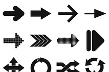 Arrow sign black simple icons