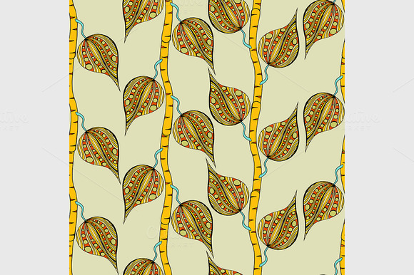 Pattern Of Doodles Branches
