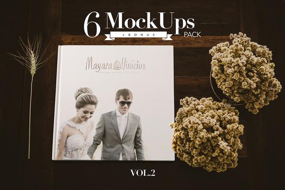Photography album mockups vol.2 - Product Mockups