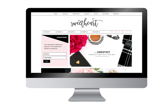 Sweetheart- Feminine WordPress Theme - WordPress