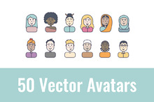 50 Male And Female Avatars
