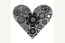 Heart of flower