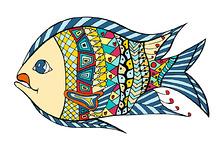 Tangle Patterns stylized Fish