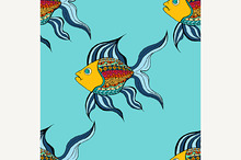 Tangle Patterns fish background