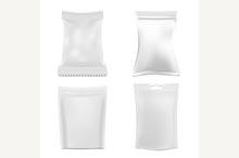 Set of White Foil Packaging