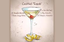 Tuxedo alcoholic cocktail