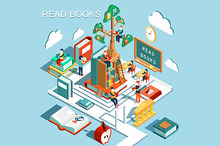 The concept of learning, read books