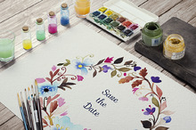 Watercolor wedding frame
