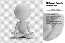 3D Small People - Meditation Pose