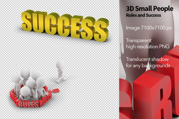 3D Small People Rules And Success