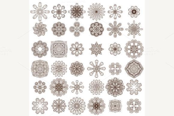 Set Of Flowers Illustration