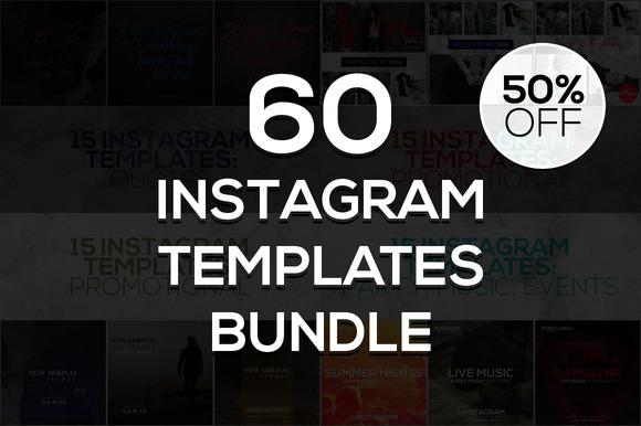 60 Instagram Templates Bundle #2