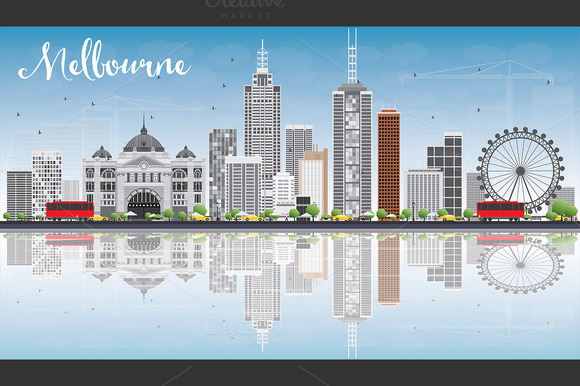 Melbourne Skyline With Buildings
