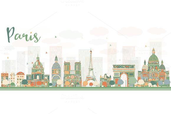 Abstract Paris Skyline