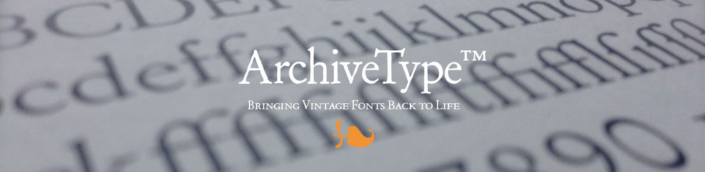 Archive Type Fonts