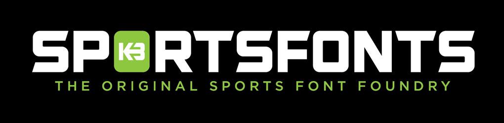 Sportsfonts by Kris Bazen