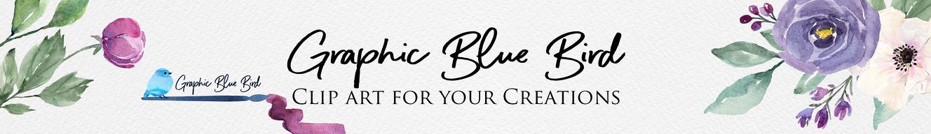 Graphic Blue Bird