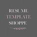 Resume Template Shoppe