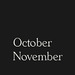 OctoberNovember