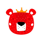 The Brilliant Red Bear