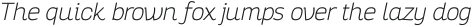 Altair Thin Italic