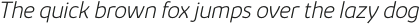 Kabrio ExtraLight Italic