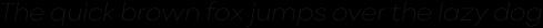 Point Thin Italic