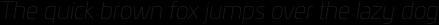 Univia Pro Thin Italic