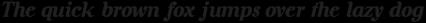 Rosengarten Serif Italic
