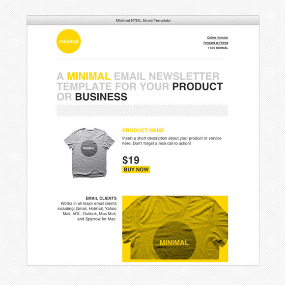 Staff favorites feb 27 creative market blog cardeo minimal html email template by cardeo maxwellsz
