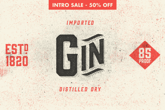 Gin Typeface by Hold Fast Foundry