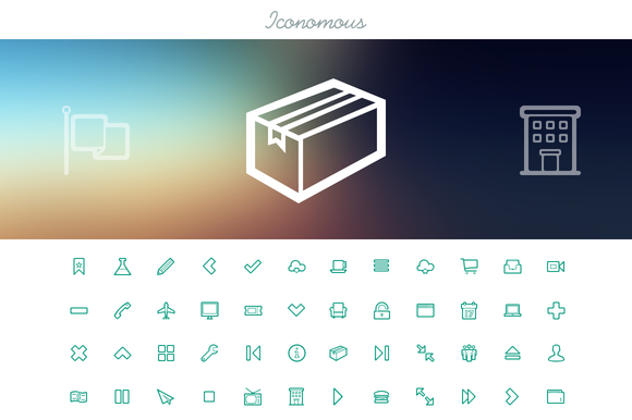 Iconomous - Outlined Icons by Oelhoem's Shop